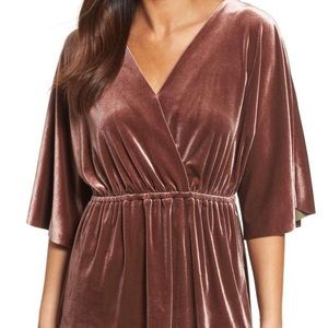 Halogen Velvet Faux Wrap Top